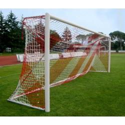 Filet de foot de stades 2 couleurs 4mm – Blanc / Rouge